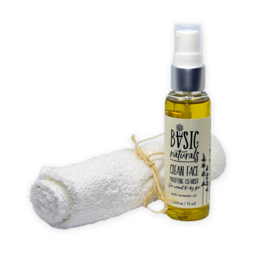 oil face cleanser - clean face - basic-naturals