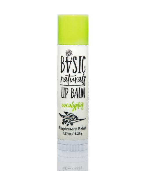 best Natural Lip Balm - Eucalyptus - Basic-Naturals