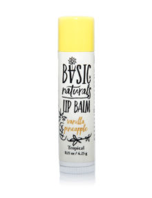 best Natural Lip Balm - Vanilla Pineapple - Basic-Naturals