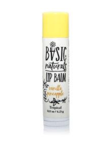best Natural Lip Balm - Vanilla Pineapple - Basic-Naturals
