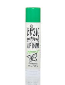 best Natural Lip Balm - Peppermint - Basic-Naturals