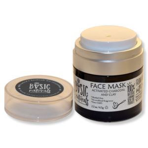 Face mask - Activated Charcoal with Clay - Basic-Naturals.com