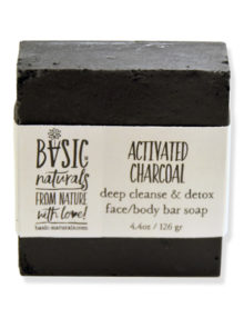 activated charcoal face soap - basic-naturals