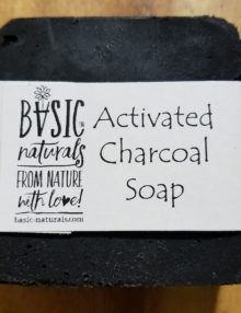 activated charcoal soap bar - basic-naturals