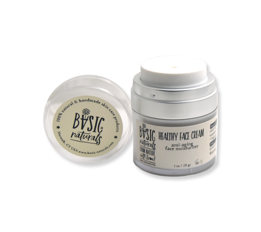 Healthy Face Cream - Anti-Aging Face Moisturizer - anti-aging face moisturizer airless pump jar- basic-naturals